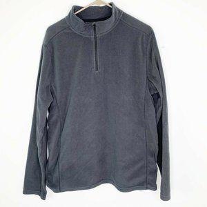 Exertek 1/4 Zip Sweater Soft Fleece gray Pullover